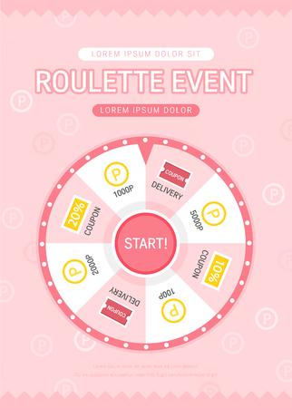 Roulette event design banner.