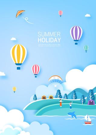 Summer travel illustration Banque d'images - 100270866
