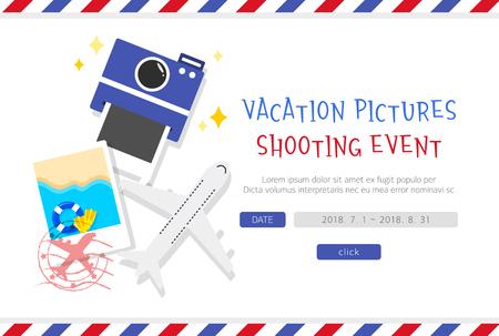 Travel Event Page Design Illustration