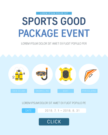 Sports item discount Event Page Design