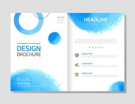 Brochure template layout design