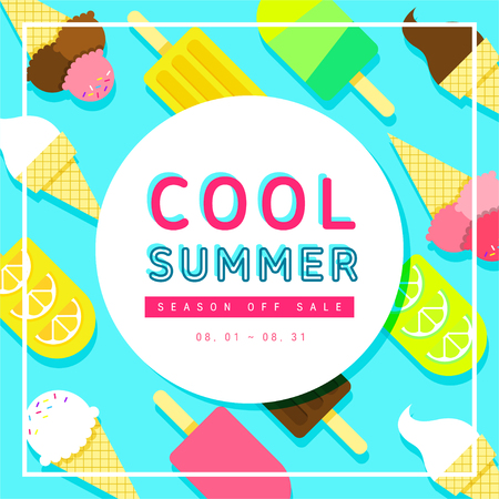 Ice cream pattern shopping event design Illustration