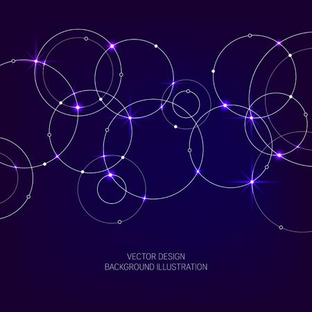 Geometric vector background design