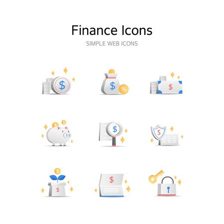 Various Banking stereoscopic icons Foto de archivo - 103774317