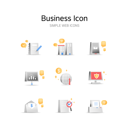 Various business stereoscopic icons