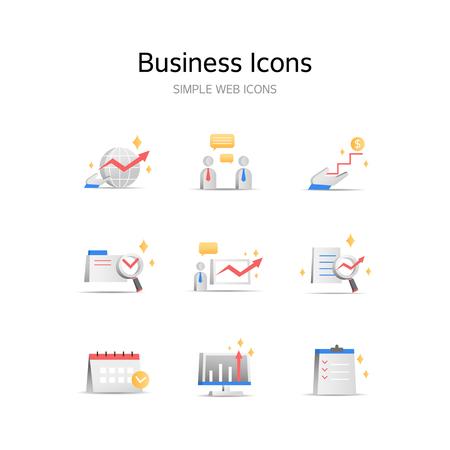 Various business stereoscopic icons Foto de archivo - 103774321
