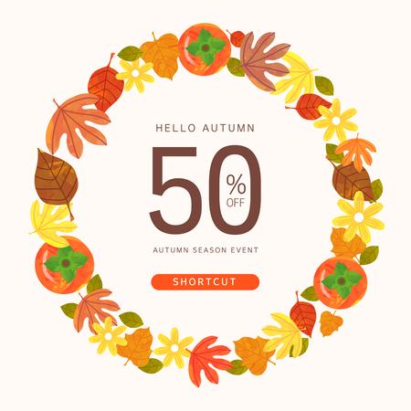 Autumn pop-up illustration