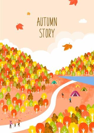 Autumn travel illustration 일러스트