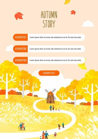 Autumn travel illustration Illustration