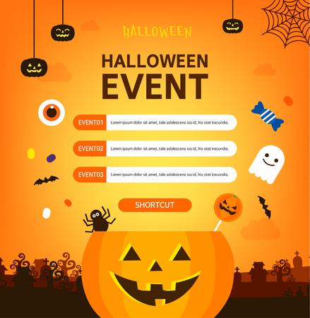 Halloween pop-up illustration