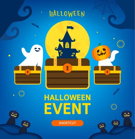 Halloween pop-up illustratie