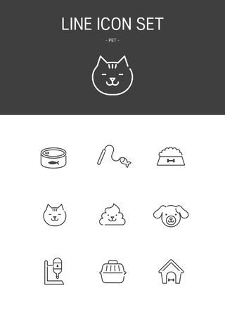 Pet Line icon Standard-Bild - 108046117