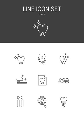 Dentist Line icon