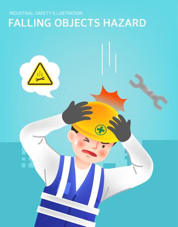 Falling objects hazard illustration