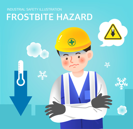 Frostbite hazard illustration