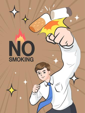 Nichtraucher Abbildung Vektorgrafik
