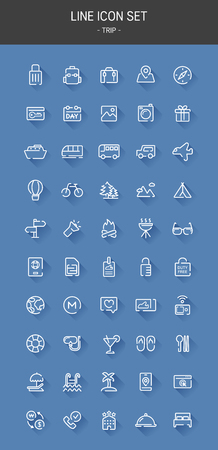 set of vector line icons.
