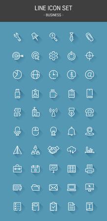 set of vector line icons. Foto de archivo - 116559820