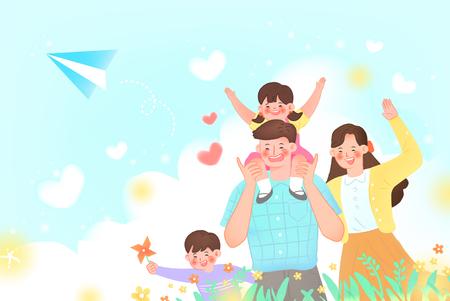 Family Day Illustration