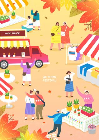 Autumn Travel and Festival Illustration