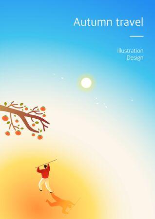 Autumn background illustration Illustration