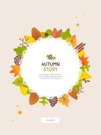 Autumn frame template