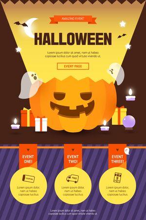 Halloween event template popup