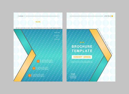 Gradient business brochure with geometric design