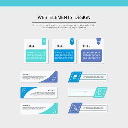 Simple web element design set