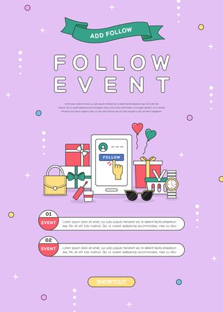 Simple line shopping popup design