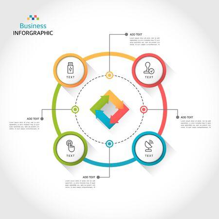 Simple design business infographic illustration
