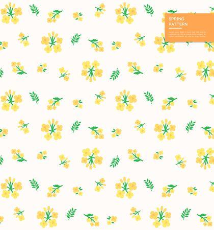 Lush spring plant design pattern