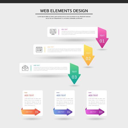 Gradient web element design set