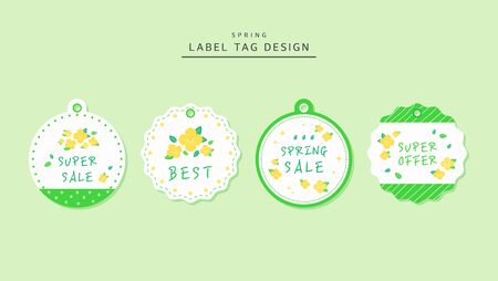 Design tag spring flower label