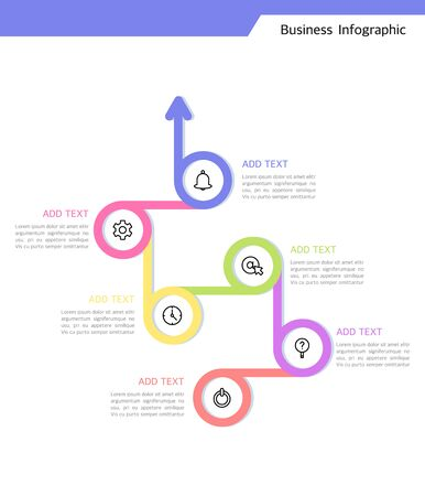 Curved geometric business infographic design