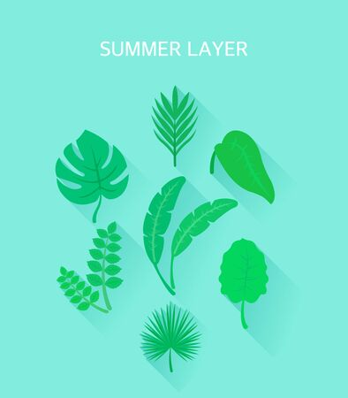 A collection of object layers that emerge in the summer Illustration