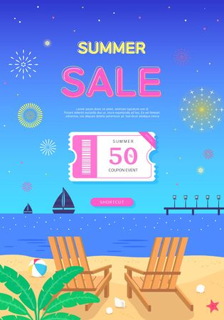 Cool summer holiday shopping pop up
