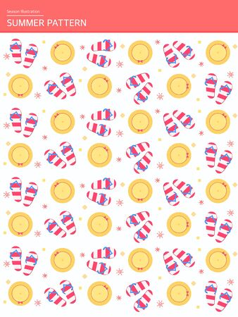Cool summer suit pattern illustration