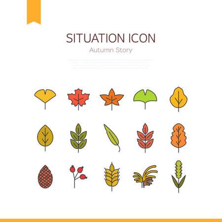 situation icon: autumn icon