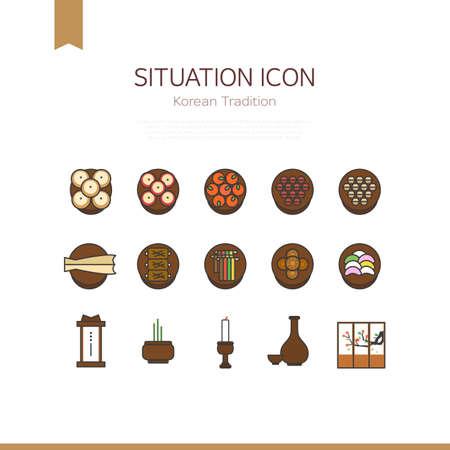 situation icon: korean tradition icon Ilustração