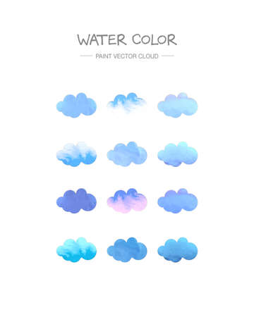 paint vector layer: watercolor cloud
