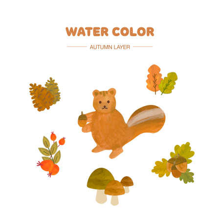 paint vector layer: watercolor autumn layer