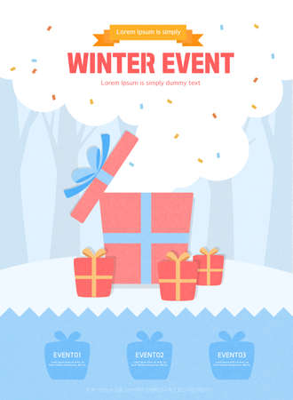 Various events in the cold winter