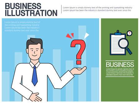 Practical Collection of Business Illustrations Vektorgrafik