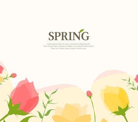 Warm spring atmosphere frame