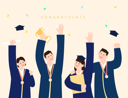 Collection of Admissions and Graduation Illustrations