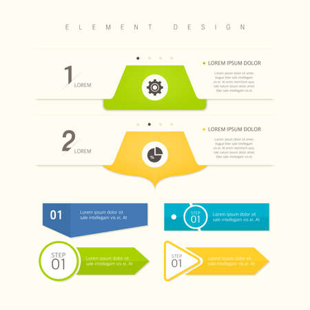 Highly utilized web element infographic Vector Illustratie