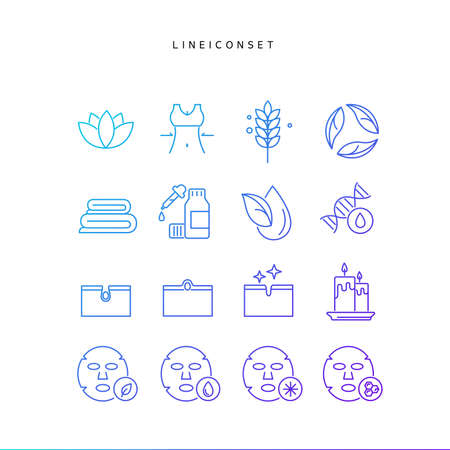 Collection of gradient line icons