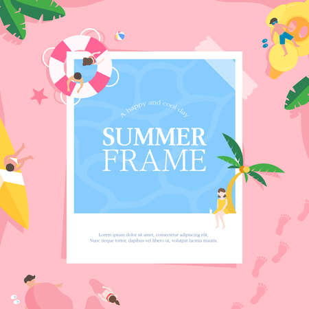Cool Summer Welcoming Frame Design