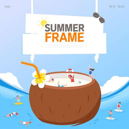 Cool Summer Welcoming Frame Design